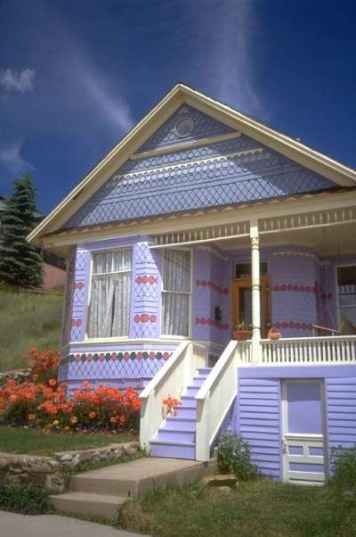 10 best exterior design ideas images on pinterest exterior design front porch columns and - Purple exterior paint image ...
