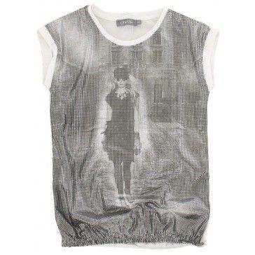 Geisha - T-shirt Glitter grijs