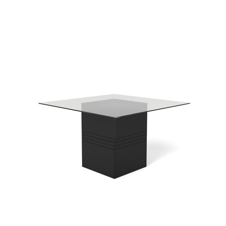 Manhattan Comfort Perry 1.8   55.12 In Sleek Tempered Glass Table Top