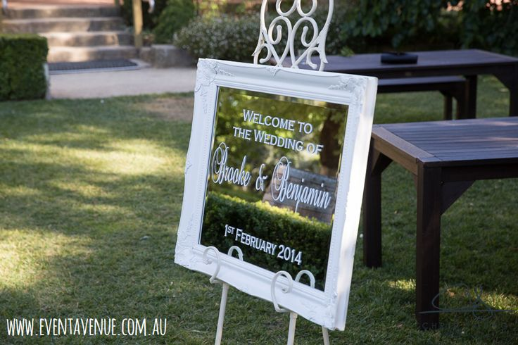 Classic wedding signage- Event Avenue