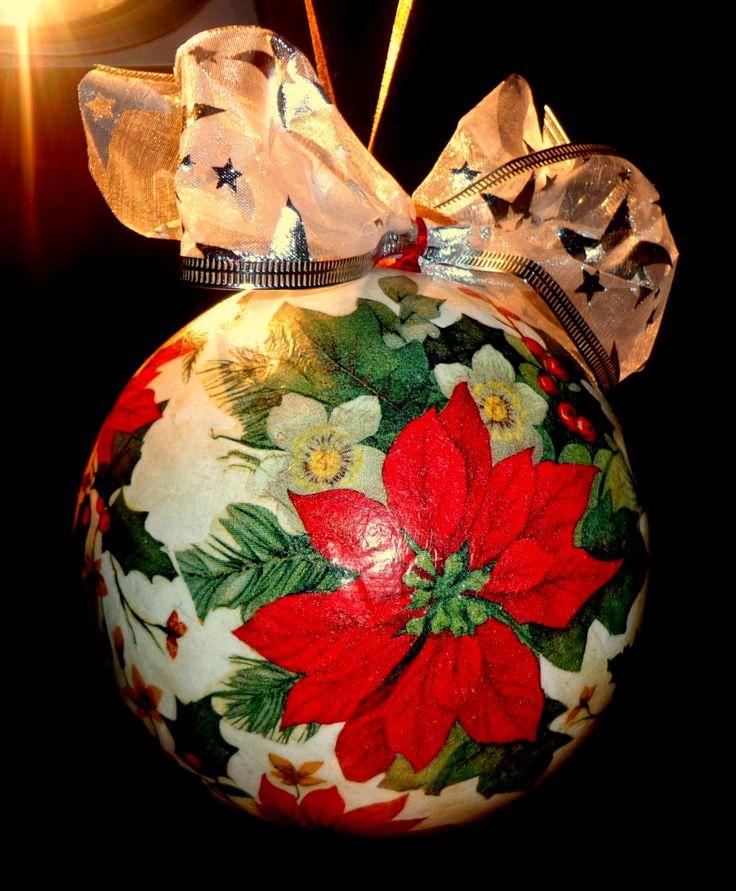 Christmas decoupage bauble