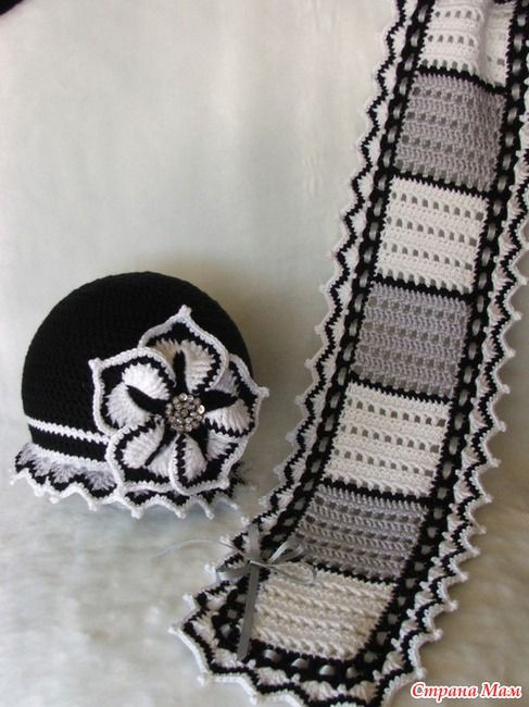 Flower ☺ Free Crochet Pattern ☺ (Beautiful hat and Scarf):