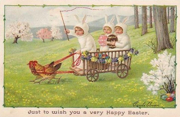 Pauli Ebner (1873-1949) — Old Easter Post Card  (750x487)