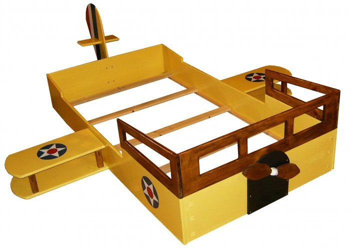 Model 150 handcrafted airplane bed twin sized lestick for Airplane bed frame