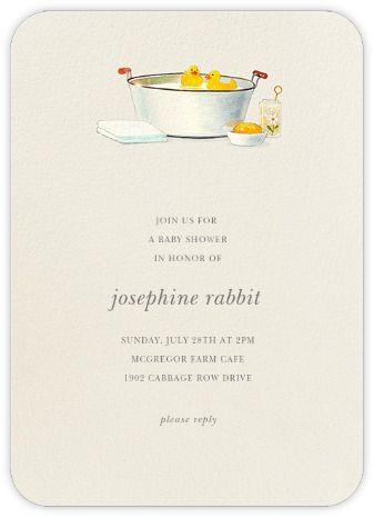 tub paperless paperless post mariko shower invites invitations