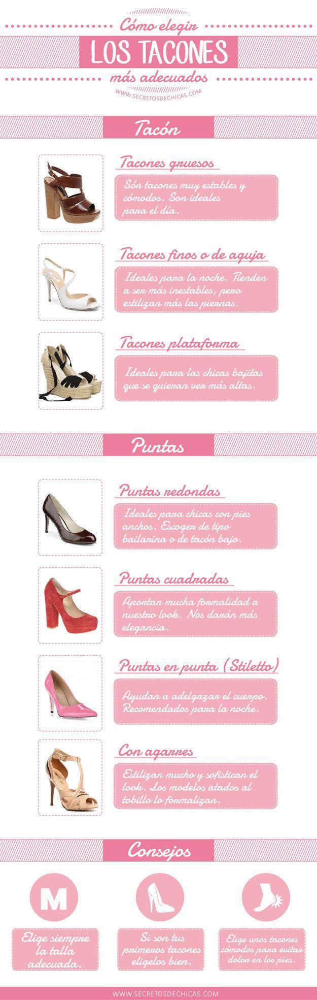 Y esta es una guía que te enseña qué clase de tacones puedes usar para diferentes ocasiones. | 18 Guías visuales de estilo que toda mujer necesita en su vida