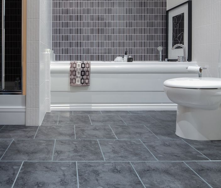 Have you ever thought about a nicely decorated bathroom  If yes  what about  using mosaic bathroom floor tiles  Mosaic bathroom tiles can be cut into  any. 17 Best images about flooring on Pinterest   Self adhesive floor