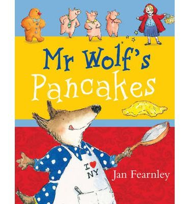 Mr Wolf's Pancakes - Mr Wolf fancies some tasty pancakes but he doesn't know how to make them. Asking his neighbours is no use - they're a mean and horrible lot who refuse to help. Poor Mr Wolf. He has to work it out, all by himself. So what happens when these nasty neighbours want to help Mr Wolf eat his delicious pancakes...?