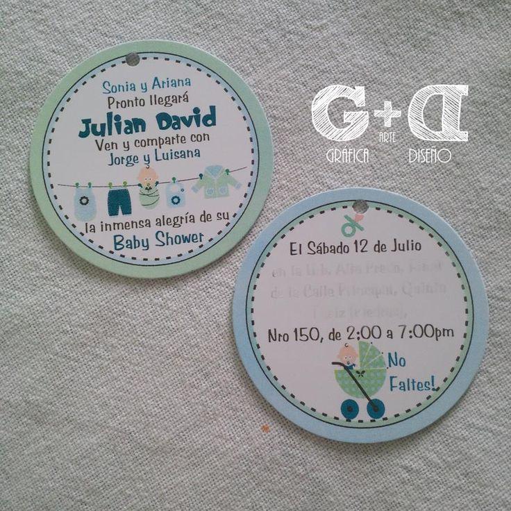 #Tarjeta para #Recuerdos del #BabyShower de Julian David