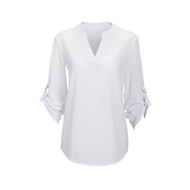 Chemise pour femme col en V plusieurs choix de couleurs 5