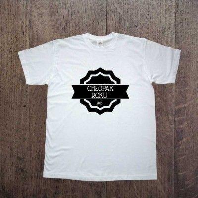 Koszulka dla chłopaka z napisem Chłopak Roku 2015. Prezent na Dzień Chłopaka