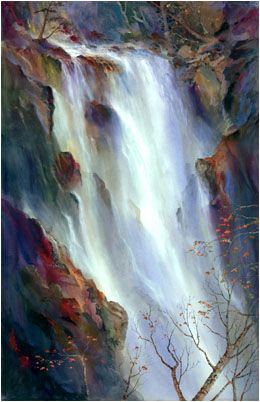 "John Ebner - Giclees, ""Secluded Falls"""