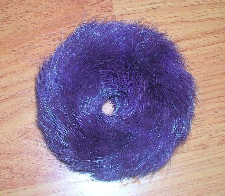 100% Real Natural Soft Rabbit Fur Hair Scrunchie Hair Ponytail RD06