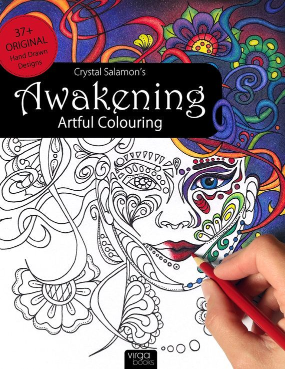 Awakening Artful Colouring Coloring Book For By CrystalSalamon