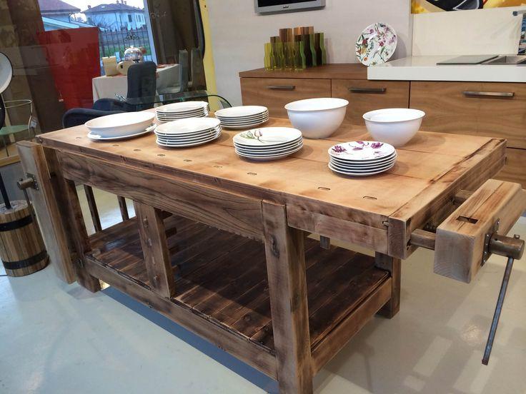 17 migliori idee su tavoli da cucina vintage su pinterest - Banco da lavoro cucina legno ...