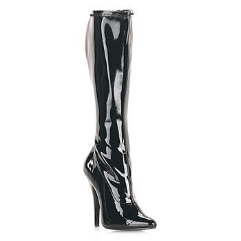 Name: Domina-2000 Black Patent Stretch Fetish Boot Price: $61.95 GET IT NOW