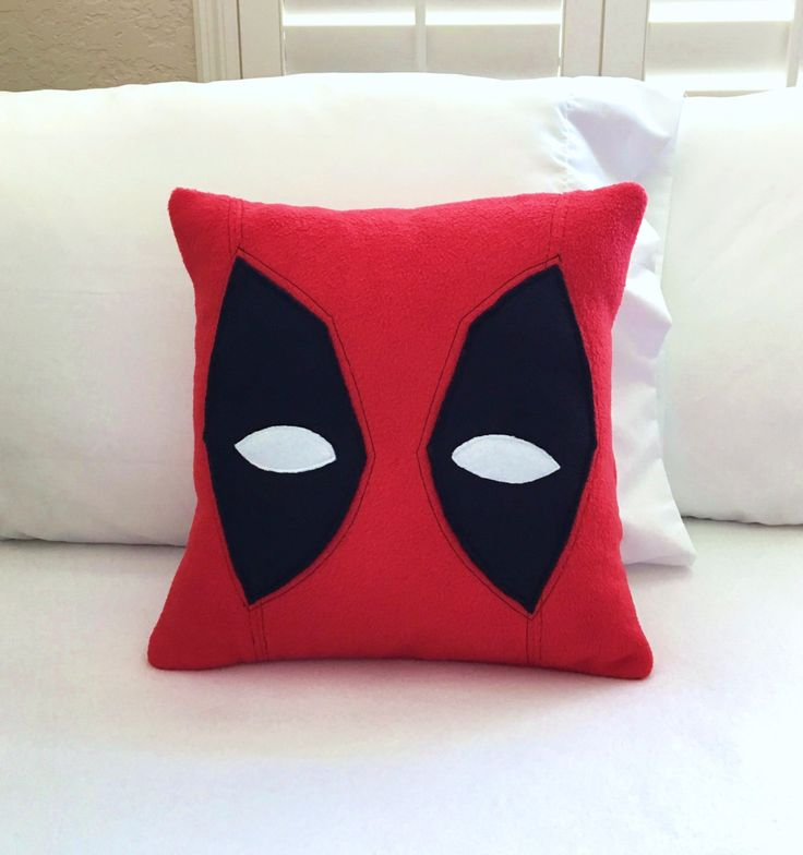 Deadpool Fleece Pillow, Marvel by PatternsOfWhimsy on Etsy
