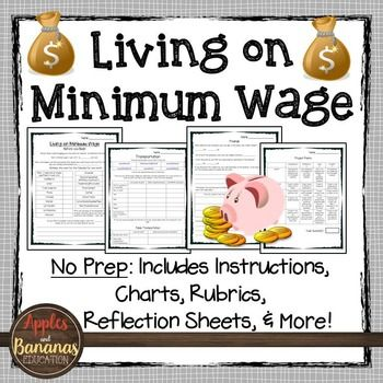 Do you want to give your students real-world, valuable information about the realities of living on minimum wage? This packet contains everything students need to complete a minimum wage project and requires no-prep for the teacher. Great for a Life Skills class, as an addition to a Business Math/Career