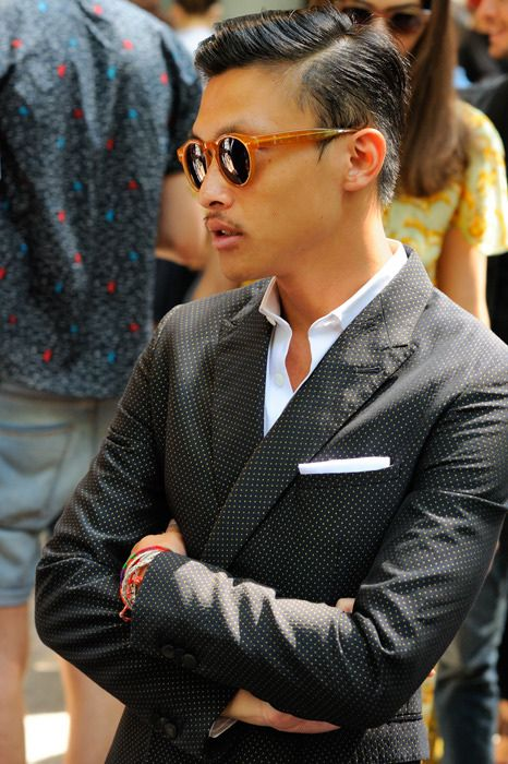 S S S S E N S EPolka Dots, Guys Style, Men Style, Men Fashion, Dots Suits, Dots Jackets, Style Guide, Fashion Photography, Pocket Squares