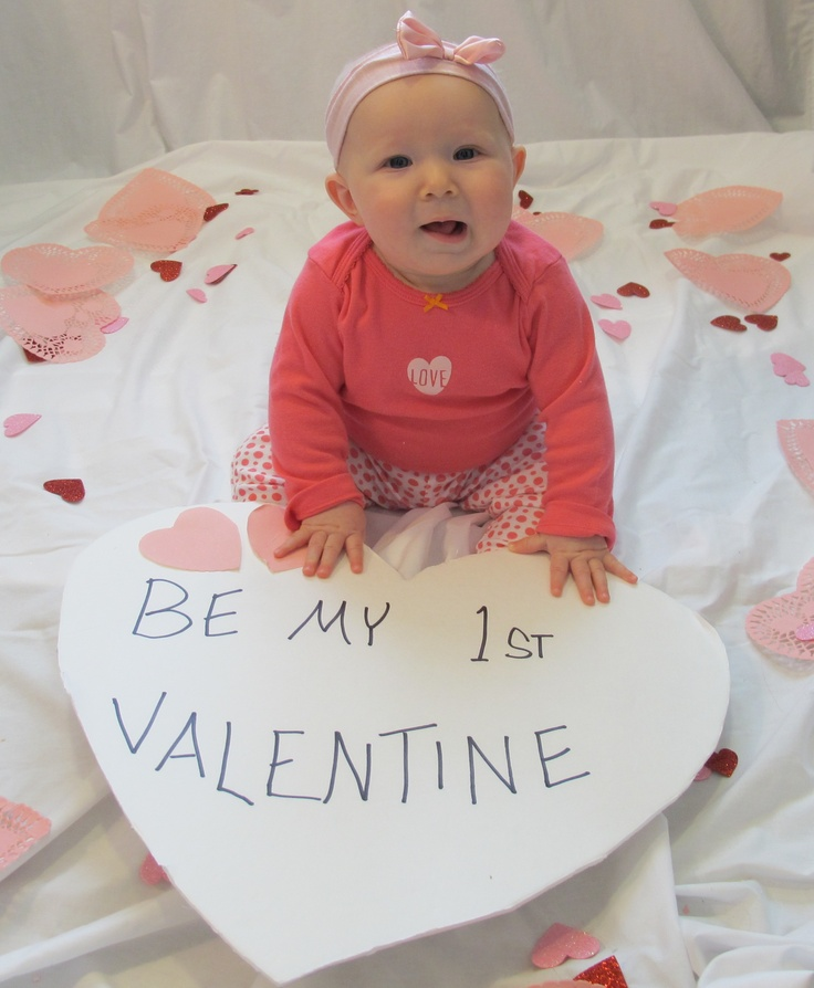 Baby's first Valentine's day with dollar store decor