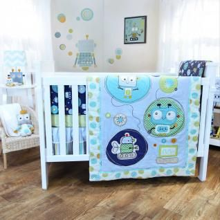 baby boy robot nursery | Lolli Living Baby Alien Robot W/ Bumper Infant Crib Nursery Bedding ...