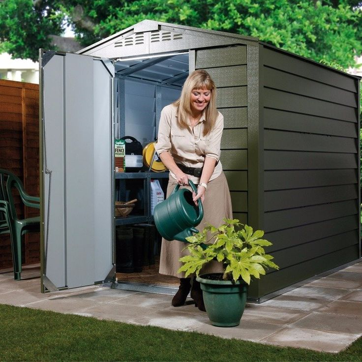 the trimetals titan 6ft wide by 3ft deep metal shed is a titan indeed precision