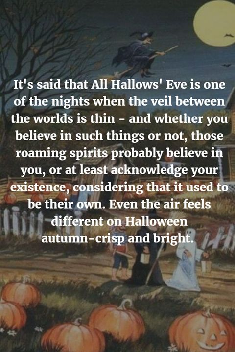 It's said that All Hallows' Eve is one of the nights when the veil between the…