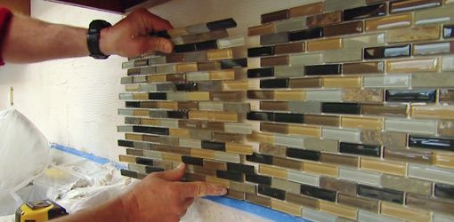 How to install a mosaic subway tile backsplash
