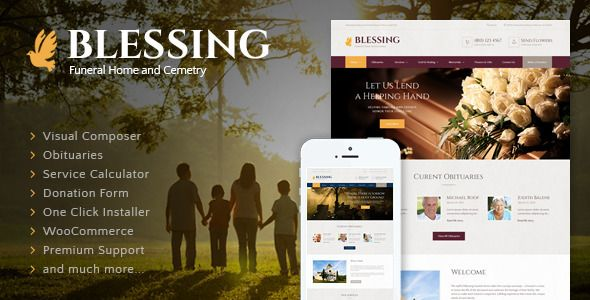 Download FreeBlessing WordPress Theme 2.1– ThemeForest |Blessing v2.1 – Funeral Home WordPress Themetowards funeral homes and funeral services. Calm webdesign of the premium webdesign will be comforting for those in mourning and appealing for those who are willing to express their condolences   #ThemeForest
