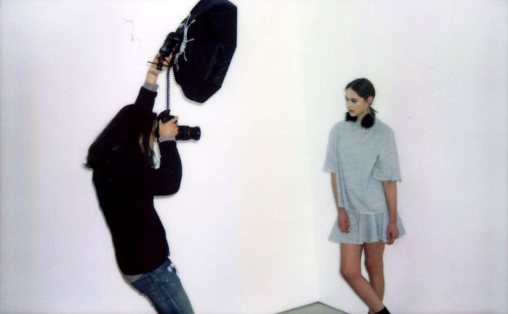 Sam Lee shooting Rosie backstage at the Battenberg AW14 Runway show