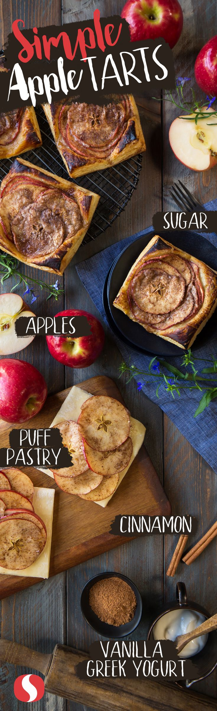 Simplify apple tarts with this quick and easy recipe! For perfectly juicy and glazed tarts, allow the tart to come to room temperature before serving this Labor Day.