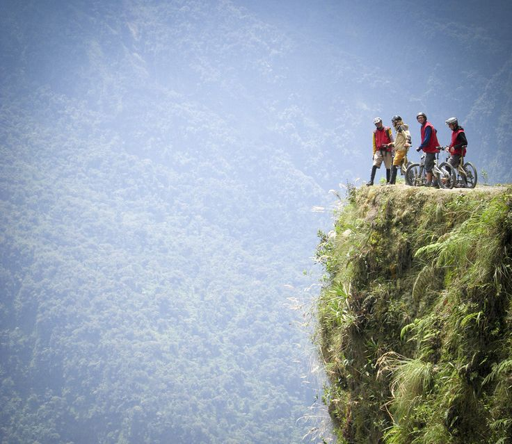 Mountain Biking down Yungas Road (Road of Death) in Bolivia