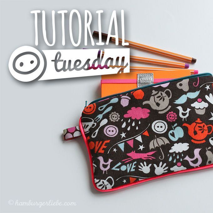 Tutorial Tuesday: wie ihr ratzfatz ein Schreibmäppchen mit Endlosreißverschluss und Paspel näht