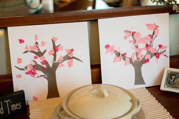 Simple Spring trees for toddlers to make