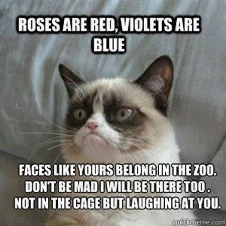 I shall hand these out for V-DAY!! Awesome grumpy's romantic poem