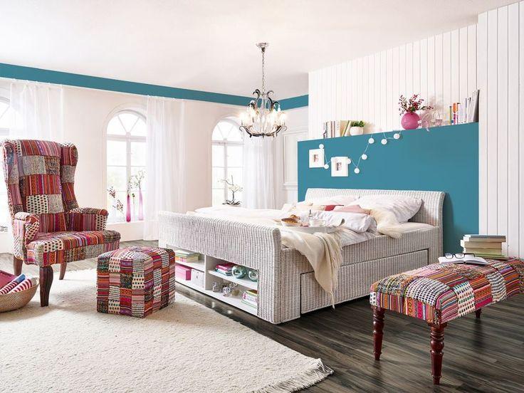 Ehebett Rattanbett 180x200 weiß Komforthöhe Rattan Bettgestell NEU 16945 in Möbel & Wohnen, Möbel, Betten & Wasserbetten | eBay
