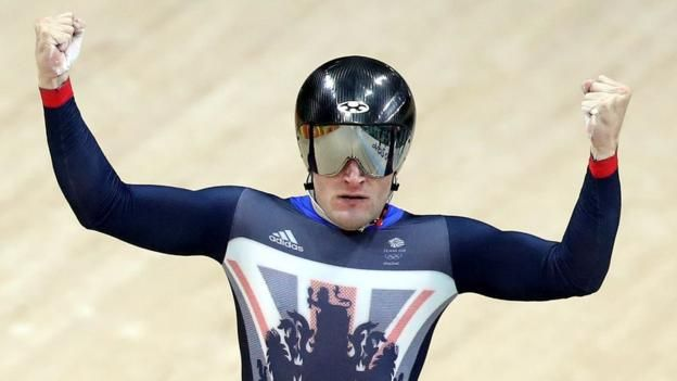 GB men win team sprint gold against world champions New Zealand. Despite winning at 3 Olympics in a row, GB were not the favourites, as they have not had a podium position since the London Olympics in 2012. 11th August 2016.