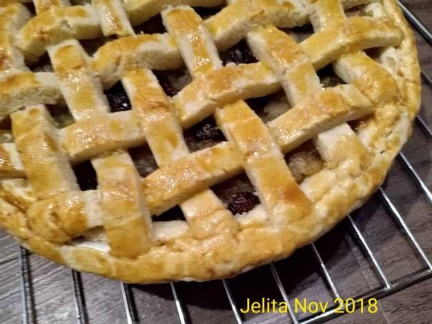 Resep Raisin Apple Pie Baked Oleh Jelita Resep Kismis Pie Apel Memanggang Kue