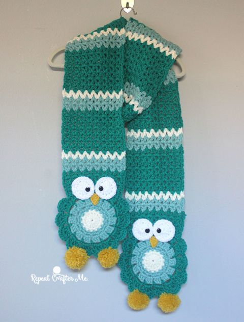 Crochet Owl Super Scarf Free Pattern and Video | The WHOot