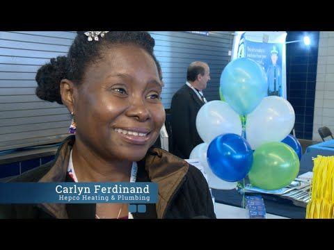 Carlyn Ferdinand from Hepco Heating and Plumbing Reviews The Who's Who Showcase held at Yankee Stadium in Bronx, NY on May 3, 2016. #WhosWhoShowcase