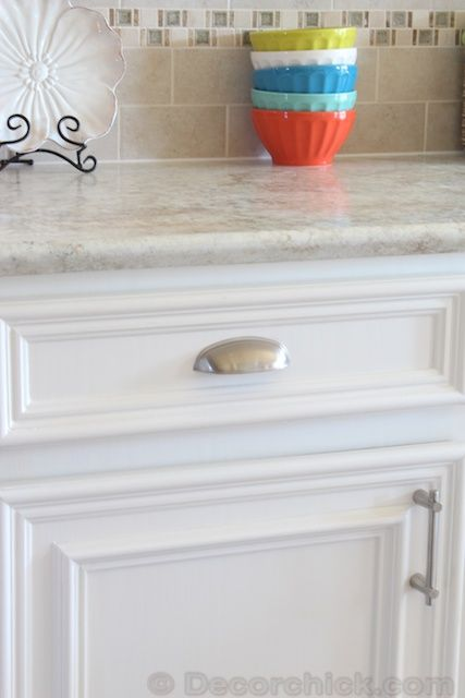 Stainless Cup Pull from Decor Chick--D. Lawless Hardware (decor chick says - Best 25+ Hardware For Kitchen Cabinets Ideas Only On Pinterest
