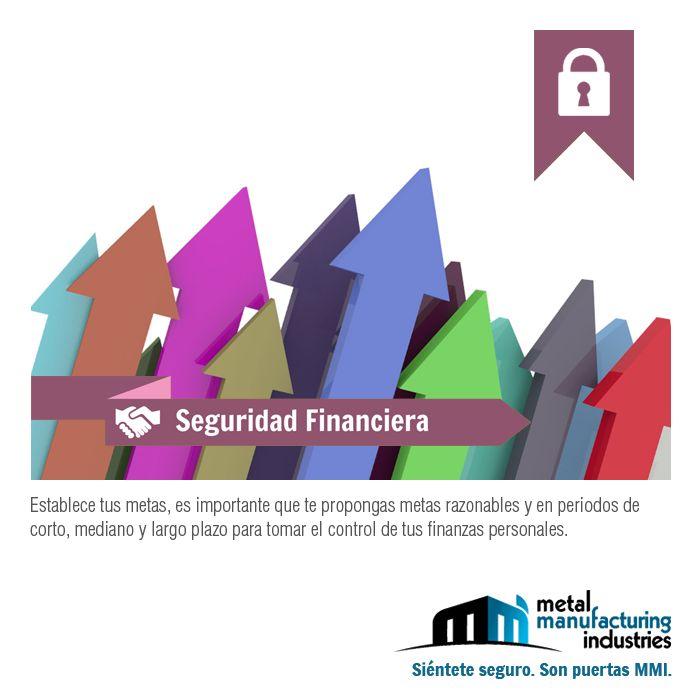 El tip de #Seguridad Financiera de este día nos recuerda establecer metas a corto, mediano y largo plazo para tomar el control de nuestras finanzas.