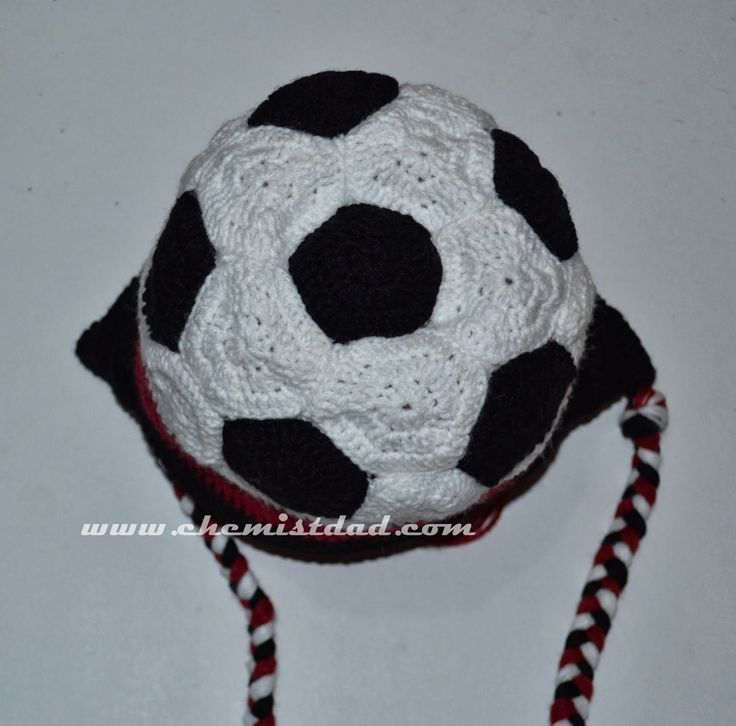 Soccer Ball Knitting Pattern : Our Family Blogs About....: Crochet Soccer Ball Hat Pattern For the Love of...