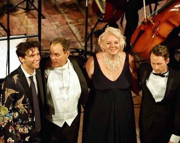 Mika, Simon Leclerc, Jeanette Olsson, Max Taylor in Como, Oct 2015