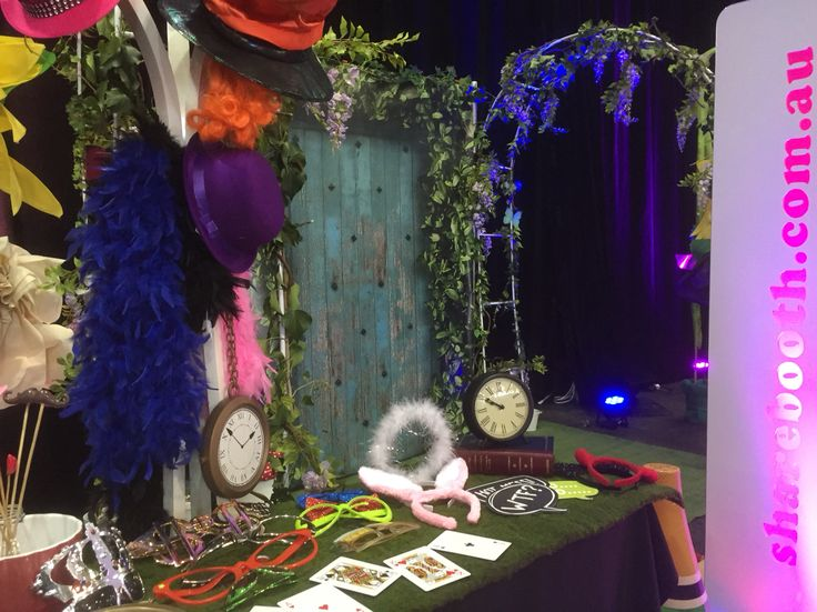 Our Mad Hatter themed Photo Booth.  Enquire with us today! Info@sharebooth.com.au