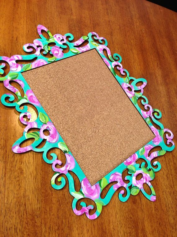 Lilly Pulitzer Inspired Cork Board, Great for Dorm/Bed Rooms on Etsy, $45.00