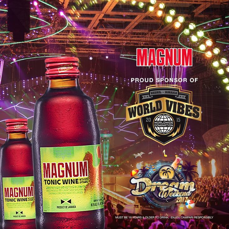 #MagnumTonicWine a #TekCharge fi #DreamWeekend2017! Sunday, July 30, a #WorldVibes wi seh!   *Not to be shared with persons under the legal drinking age 🍷🍷