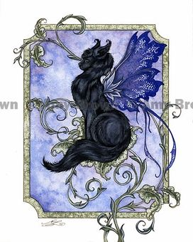 'Fairy Cat'   by Amy Brown
