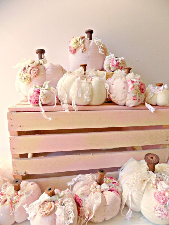 Shabby Cottage Chic Pumpkins French Farmhouse by ProvencalMarket