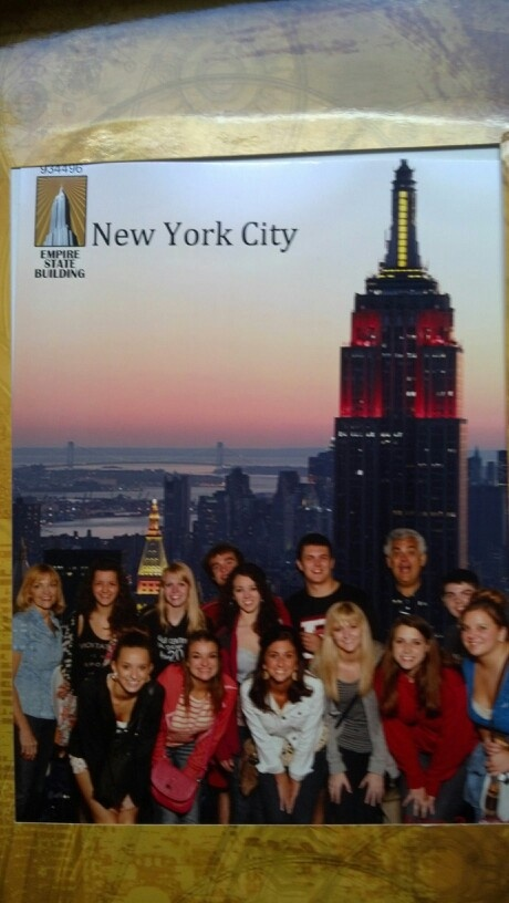 Group shot from Empire State Building.